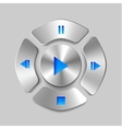 Shiny metal media player joystick vector | Price: 1 Credit (USD $1)