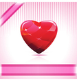 shiny ruby heart vector image vector image