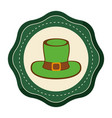 sticker hat accessory st patrick vector image vector image