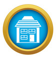 two-storey house with sloping roicon blue vector image vector image