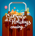 vacation travelling concept travel with different vector image vector image