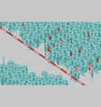 viral contamination in a huge crowd people vector image vector image