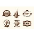 Wine sketch labels vector image