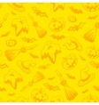 Yellow Halloween seamless pattern vector image