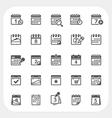 Calendar icons set vector image