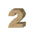 number 2 stone rock font two stones alphabet vector image