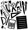 stationeries vector image