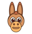 funny donkey face isolated icon vector image