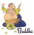 isolated indian gods buddha meditation in yoga vector image