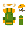climbing trekking backpack vector image