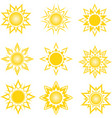 a set of an abstract suns vector image vector image