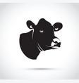 abstract black cow head vector image vector image