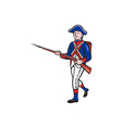 American Revolutionary Soldier Marching Cartoon vector image vector image