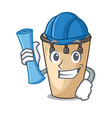 architect conga character cartoon style vector image vector image