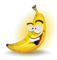 banana fruit character vector image
