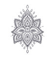 beautiful ornate pattern lotus flower vector image
