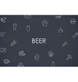 Beer Thin Line Icons vector image vector image