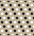 black and white polka dots on gray background vector image vector image