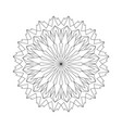 black and white round acute mandala vector image vector image