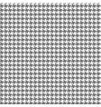 black houndstooth fabric seamless pattern vector image