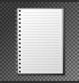 blank copybook template vector image vector image