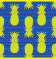 blue and yellow tribal pineapples vector image