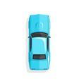 blue cartoon muscle car top view vector image
