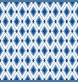 blue diamond seamless pattern strict elegant vector image vector image