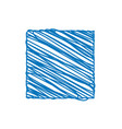blue square sketchy background vector image vector image