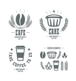 Cafe and cake emblems and icons vector image vector image
