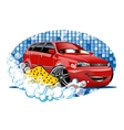 Car Washing sign with sponge vector image