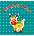 Cartoon Christmas reindeer vector image
