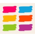 Collection of colourful stains in painting brush vector image vector image