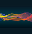 colorful line sound wave vector image vector image