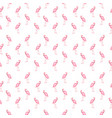 colorful pink flamingo isolated on white vector image vector image