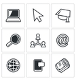 Computer literacy icons set vector image vector image