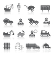 Construction pictograms collection vector image vector image