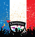 crowd cheer france vector image