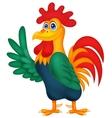 Cute rooster cartoon waving vector image vector image