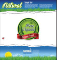 ecology nature background vector image vector image