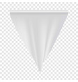 empty white pennant mockup realistic style vector image vector image