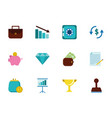 finance business icons set on white background vector image vector image