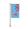 flag of fiji hanging on a pole vector image vector image