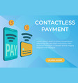 flat concept of contactless payment page vector image vector image
