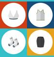 flat garment set of brasserie foot textile vector image vector image