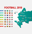 football 2018 europe qualification all groups vector image vector image