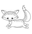 fox cute wildlife icon vector image