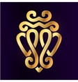 Gold Luckenbooth brooch design element vector image