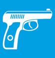 gun icon white vector image vector image