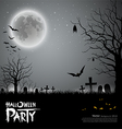 Halloween party scary background vector | Price: 1 Credit (USD $1)